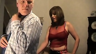 Mature Woman In Red Boots Gets Her Pussy Drilled By A Lusty Old Guy