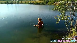 Friend's Wife In The Summer Lake