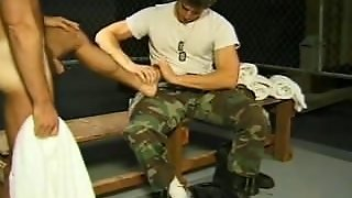 Hunky Army Gay Guys Love Sucking Dick And Toes