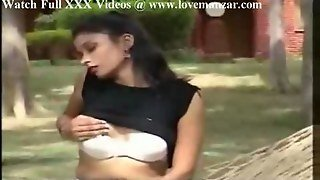 Indian Girl Popping Tits In Public