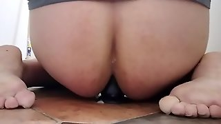 Gaping Asshole With Black Dildo