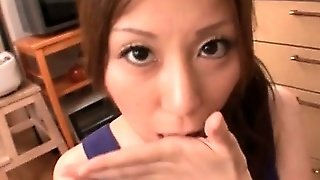 Asian Teenage Bitch Giving Blowjob Gets Mouth Jizzfilled