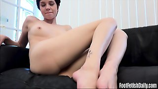 Cadey Mercury Dildo Foot Fetish