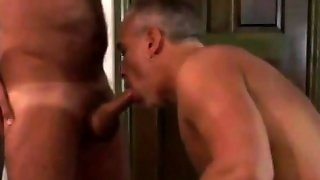 Tanned Mature Gay Cock Slurping