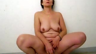 Freaky Mature Woman Riding A Dildo On The Parking Lot