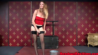 Bdsm Submissive Tormented With Wooden Pegs