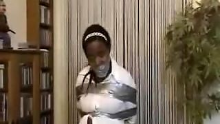 Black British Girl Wrap Gagged And Bound 1