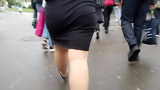 Fat Ass In Skirt