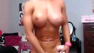 Busty Blonde Bodybuilder Chick
