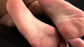 Babe, Big Boobs, Masturbation, Blonde, Nipples, Foot Fetish, Solo