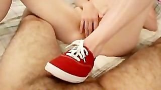 Amateur In Red Shoes Fucked