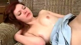 Redhead Russian Boned On The Sofa