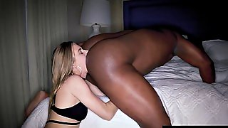Pale Blondie Is Addicted To Licking Black Ass And Cock