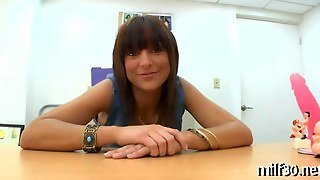Stunning Milf Comes In For A Kinky Interview