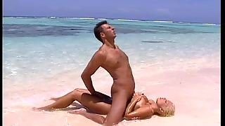 Naughty Blonde Angelica Bright Swallows A Hard Cock By The Beach Shore