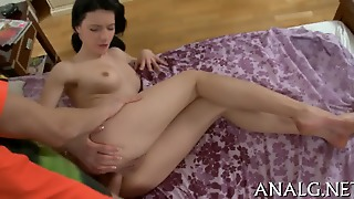 Wet Anal Creampie For Cute Chick