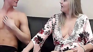 Mature Mom And Young Guy Fuck After Watching Porn Together
