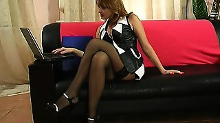 Milf Slut Fucked Hardcore In Sexy Black Stockings