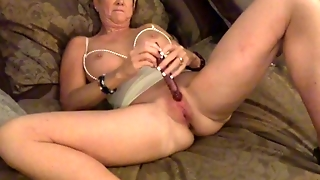 Amber Simone Plays With Toy Just For You