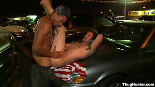 Johnny And Spencer Fox Have Interracial Gay Sex At A Parking