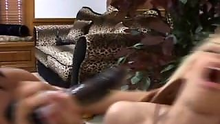 Blonde Spanked Fingered And Fucked By Lesbian