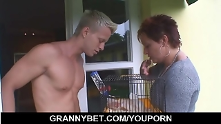 Pretty Neighbour Granny Gets Banged By Hung Guy