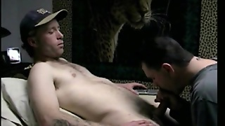 Amateur Dilf Blowing Real Straight Man