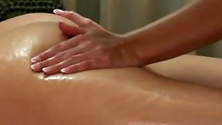 Blonde Giving An Erotic Massage