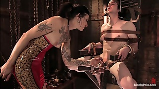 Dominant Vixen Riding Cock After Torturing And Spanking A Bounded Guy