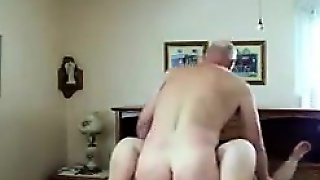Very Old Couple Having Sex On The Bed