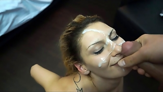 She Likes Your Cum In Her Face After Hard Sex