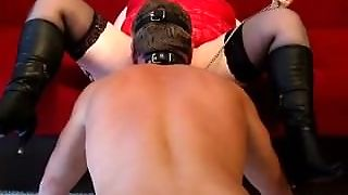Bbw Strapon Play With Slave