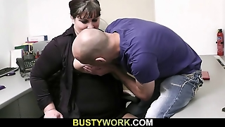 He Bangs Busty Bitch Right In The Office