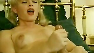 A Retro Shemale Shoots Her Hot Load