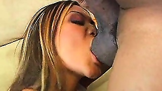 Dick Hungry Asian Sucking Big Black Cock