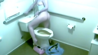 Spying On A Girl Masturbating On A Toilet