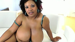 Fat And Big-Breasted Slut Betty Blac Is Tasting Long White Penis