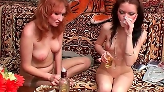 Redhead Milf And Horny Teen Fool Around