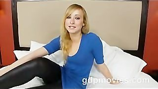 Innocent Annie Does Her First Porno And Gets A Big Facial!