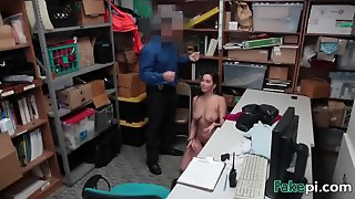 Busty Teen With Hairy Pussy Getting Boned On The Desk