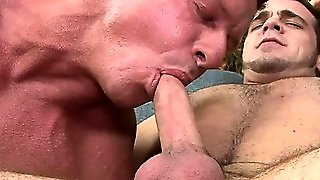 I Paid A 220Lb Str8 Bodybuilder To  Pounds My Cute Boy's Butt.