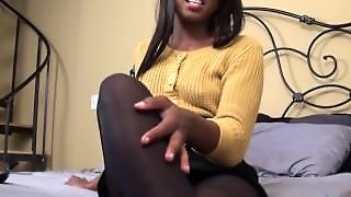 Addicted To Ebony Nylons Lover
