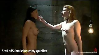 Leashed Lesbians Links Their Nipples