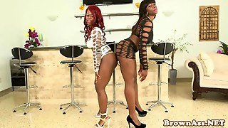 Bigass Twerking Ebony Duo In Their Glam Gear
