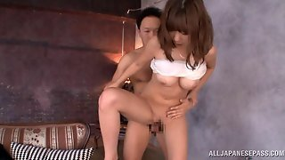 Arousing Asian With Big Tits Nao Fujimoto Is Fucked In Sexy High Heels