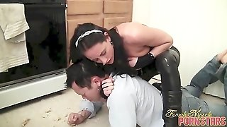 Kink, Verbal Humiliation, Headlock, Kicking, Spitting, Shemuscle, Kinky, Flexing, Female Muscle, Stomach Punching, Tits