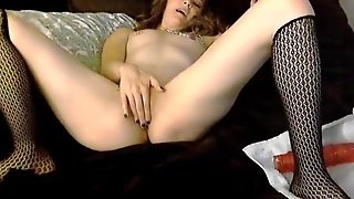 Tattooed Amateur Anally Penetrates With Dildo