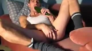 Crazy Insertion Of Big Cucumber