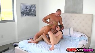 Blonde With Massive Knockers And Clean Pussy Gets