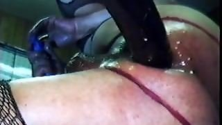 Buttfucked By Huge Dildo Machine With 1 Leg In The Air 2